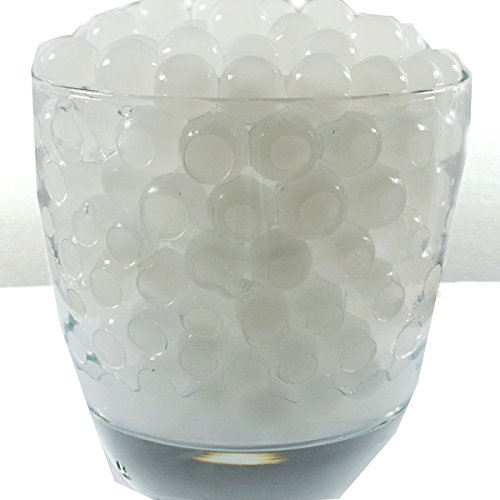 Water Pearls Gel Beads- Wedding & Event Centerpieces- Cosmo Beads (Tm)-Makes 6 Gallons (8 Oz Pack) (White)