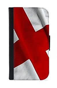 Case Fun Samsung Galaxy S4 (i9500) Faux Leather Wallet Case - Flag of England