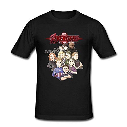 JIUDUIDODO Men's Marvel Avenger Age of Ultron T-Shirt L Black