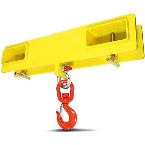 (Titan Forklift Lifting Hoist Swivel Hook Mobile Crane 4000 lb. Capacity Lift )