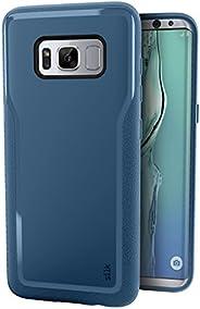 Smartish Galaxy S8+ Grip Case - Kung Fu Grip Lightweight Protective Slim Samsung S8 Plus Cover - (Silk) - Blue