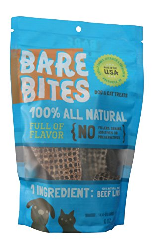 Bare Bites – 100% All Natural Dehydrated Beef Liver Dog and Cat Treats (6 Ounce Bag) Review