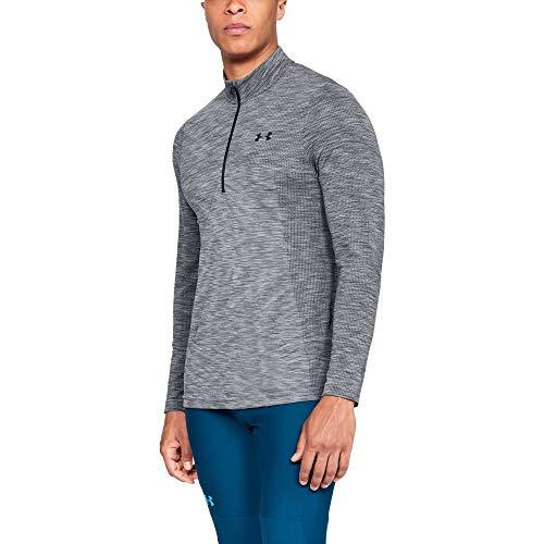 (Under Armour Men's Siphon 1/2 Zip Sweatshirt, Steel (035)/Black, Medium )