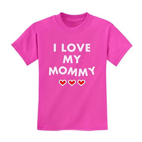 Tstars TeeStars – I Love My Mommy – Children's Mother's Day Gift Cute Kids T-Shirt 4T Pink