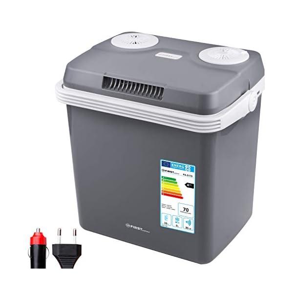 417lbJQQk L TZS First Austria - 32 Liter Kühlbox, WÄRMT und KÜHLT, thermo-Elektrische Kühlbox 12 Volt und 230 Volt, Mini-Kühlschrank…