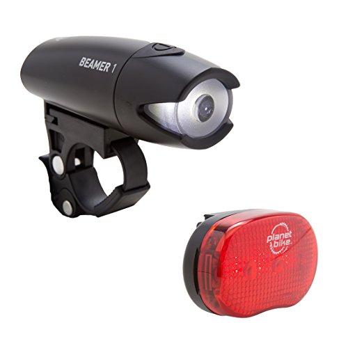 (Planet Bike Beamer 1 & Blinky 3 Bike Light Set)