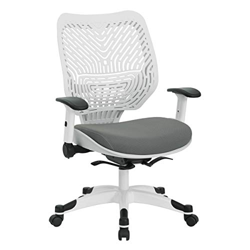 Office Star Products 86W-2C12F2W-2M Office Managers Chair, Grey