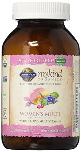 Garden Of Life, Multivitamin Mykind Womens Organic, 144 Tablets (Best Whole Food Multivitamin 2019)