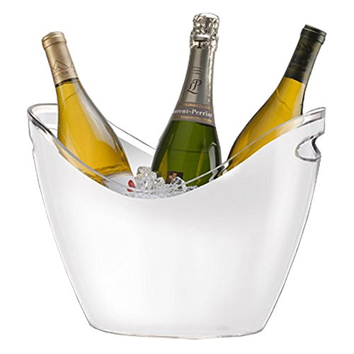 Co-Rect Acrylic 4 Bottle Ice Bucket, White