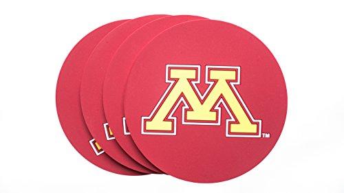 Collegiate Pulse Minnesota Golden Gophers NCAA PVC Coaster 4-Pack - Minnesota Golden Gophers Coaster