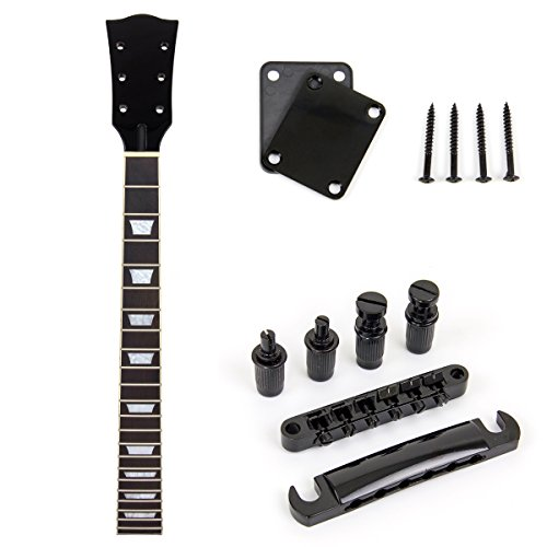 Guitar Neck 22 Fret With Black Tune-o-matic Bridge Tailpiece Neck Plate For Electric Guitar Parts Replacement