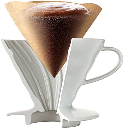 Hario V60 Gr/ö/ße 01 drei Packungen 100 Wei/ßbuch Kaffeefilter insgesamt 300 Papierfilter 3x VCF-01-100W
