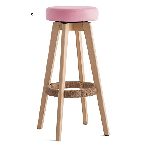 Small Solid Wood Bar Stool Stool High Chair, Home Can Be Replaced Cushions Chair Coffee Stool ( Size   XL )