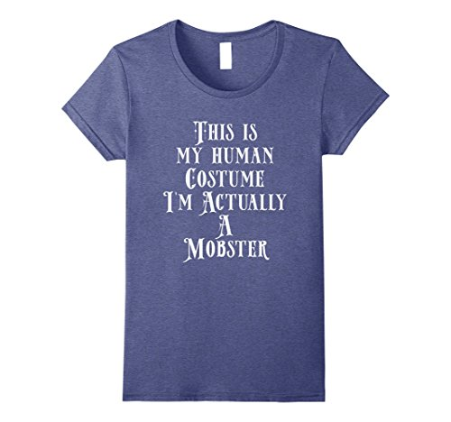 Female Mobsters Costumes (Womens My Human Costume - Female Mobster Gift Shirt Gangster Men XL Heather Blue)