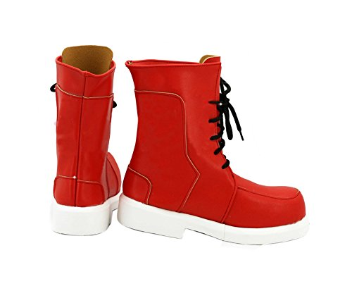 Midoriya Costume - ROLECOS Izuku Midoriya Cosplay Shoes Mens Battle Shoes Boots Red 9
