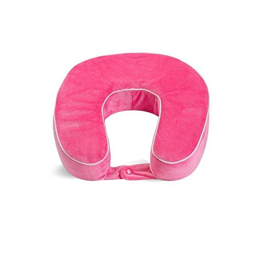 World's Best Cushion/Soft Memory Foam Neck Pillow, Pink