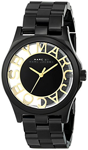 Marc by Marc Jacobs Women's MBM3255 Skeleton Stainless Steel Watch with Link - Watches Women Marc Jacobs Black