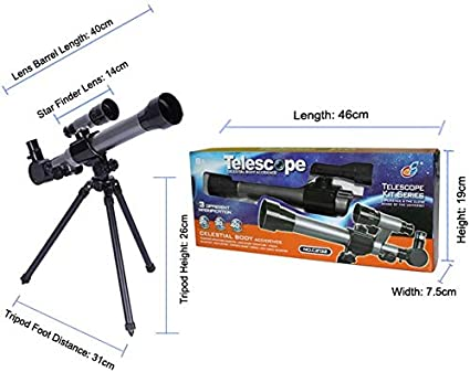 Black Children Astronomical Telescope Rate:20X//30X//40X for a Young Astronomer