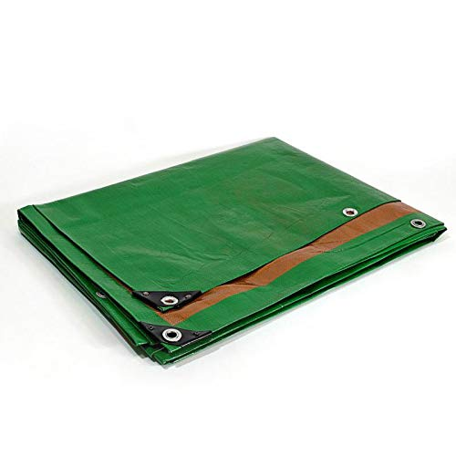Tr/ès r/ésistante Verte et marron B/âche Chantier 4x5 m Etanche /Œillets Anti-UV