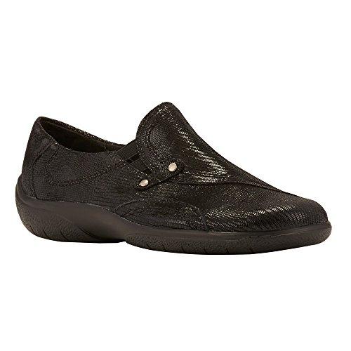 Walking Cradles Women's Amp Flat Black Patent Lizard