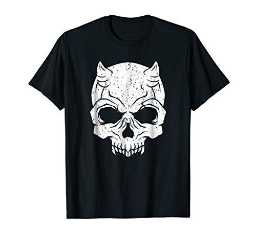 Evil Devil Skull T Shirt - Satan Themed Horror Halloween Tee