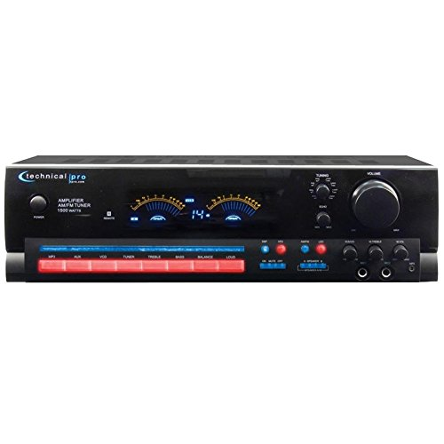Technical Pro RX504 1500W 2Ch Integrated Amplifier & Pre-Amp Stereo - Stereo Pro Preamp