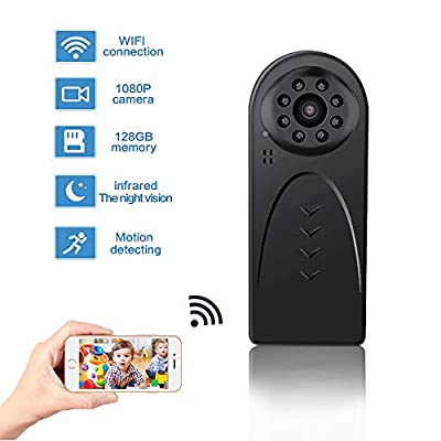WiFi HD 1080P Mini Spy Camera, Body Camera Recording Indoor Outdoor with Night Vision Motion Detection Nanny Cam Hidden WiFi Camera Home Office Security