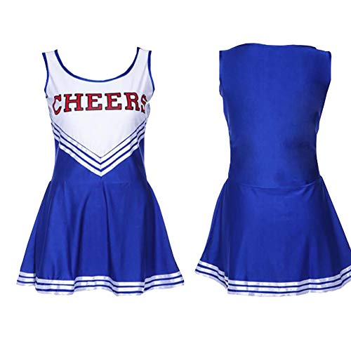 Plus Size Cheerleader Uniforms (XinYiQu Womens Plus Size Varsity High School Cheer Girl Sexy Cheerleader Dress Costume Musical Uniform Outfit (XL,)