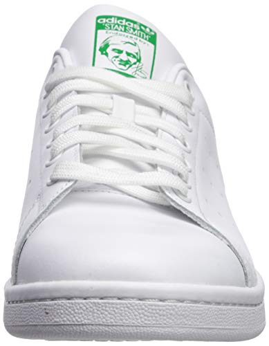 adidas Originals Men's Stan Smith Leather Sneaker, Footwear White/Core White/Green, 9
