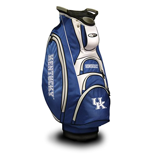 - Team Golf NCAA Kentucky Wildcats Victory Golf Cart Bag, 10-way Top with Integrated Dual Handle & External Putter Well, Cooler Pocket, Padded Strap, Umbrella Holder & Removable Rain Hood