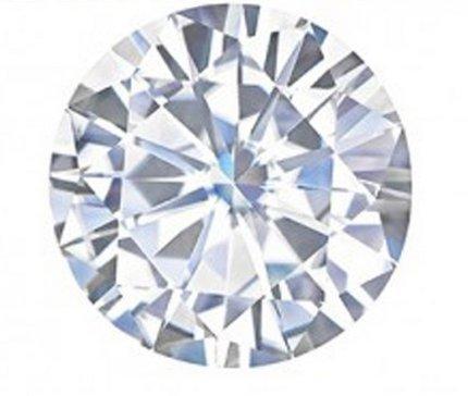 Gowe Certifié Charles Colvard rond classique Charles Courroie Pierre pour bijoux 6,5mm 1CT Effet Near Incolore
