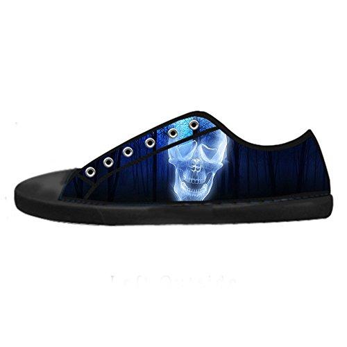 In Alto Custom Sopra Lacci Teschio Da I Le Ginnastica Di Tela Canvas Scarpe Delle Men's Shoes zC4qzg8w
