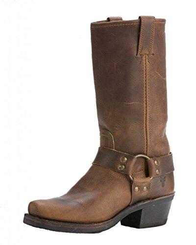 (FRYE Women's Harness 12R Boot, Tan Crazy Horse, 6 M)