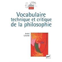 Vocabulaire technique et critique de la philosophie [nouvelle édition]