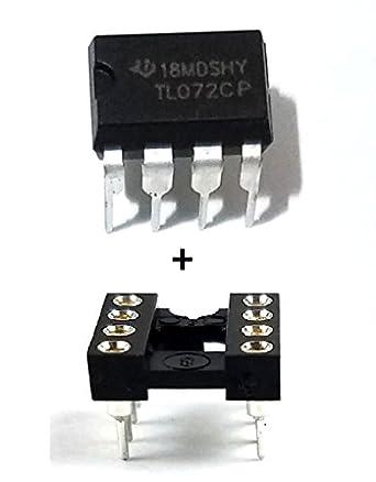Amazon.com: Texas Instruments TL072CP IC amplificador ...
