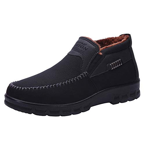 Clearance Sale for Shoes,AIMTOPPY Winter Men's Cotton Shoes Thickening Plus Velvet Warm Casual Boots