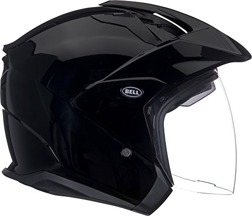 Bell Mag-9 Open Face Motorcycle Helmet (Solid Gloss Black, Medium)