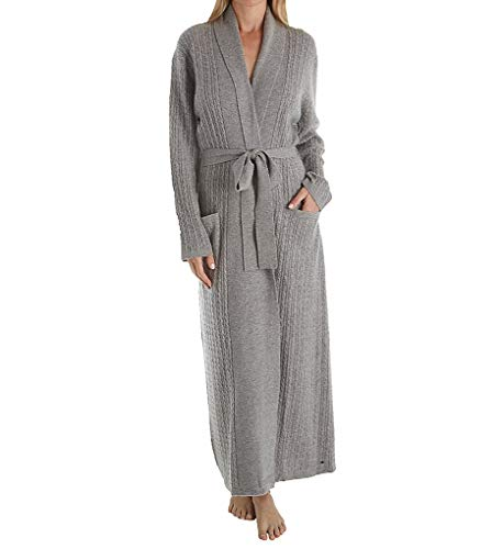 (Arlotta Long Baby Cable Texture Wrap Robe (2020) M/Flannel Grey)