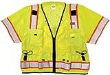 ML Kishigo S5010 Ultra-Cool Polyester Professional Surveyors Vest, Extra Large, Lime