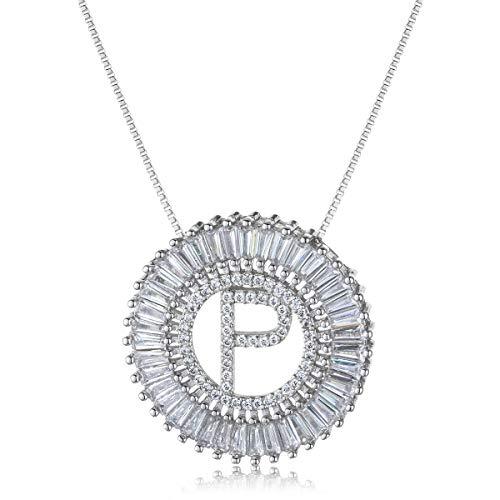 COTTVOTT A-Z Alphabet Pendant Necklaces Charms Women Initial Letter Chain Necklace 4 Colors