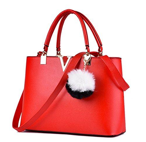 BAO Mujeres Bolsos de mujer Bolsas de hombro Messenger Bags Simple Tide, blue Red