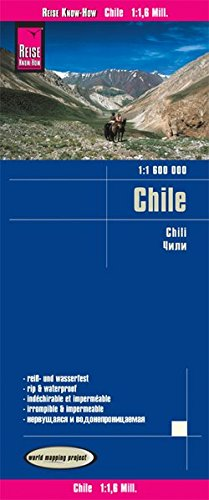 Reise Know-How Landkarte Chile (1:1.600.000): world mapping project