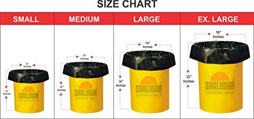 Shalimar Premium OXO - Biodegradable Garbage Bags (Medium) Size 48 cm x 56 cm 6 Rolls (180 Bags) (Black Colour) 4