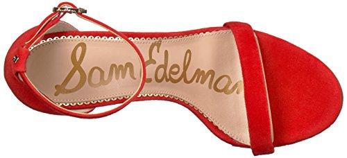 Sam Edelman Donna Ariella Sandalo Con Tacco Rosso Caramella