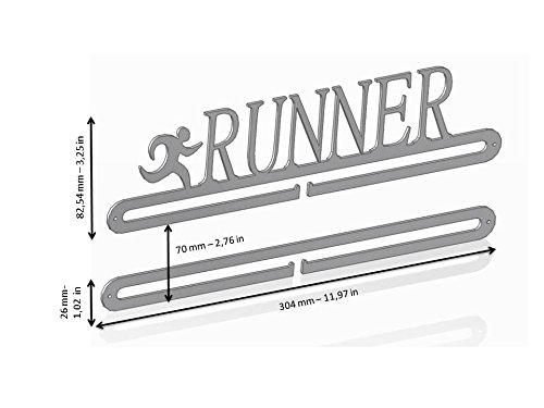 Sport Contour - Medagliere da parete a 2 piani, per medaglie ottenute nella corsa 3 spesavip
