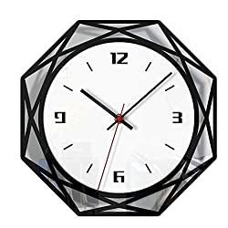 Jocome Nordic Style Wall Clock Silent Transparent Acrylic Clock Home Living Room Quality Quartz Battery Operated Round Easy to Read Home/Office/Classroom/School Clock