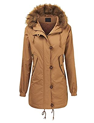 LL Womens Casual Anorak Jacket with Hoodie