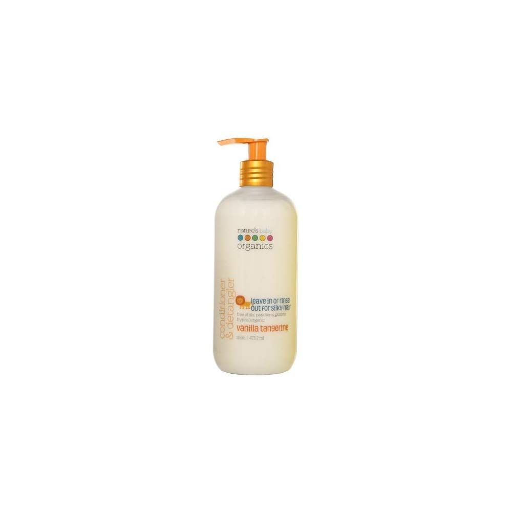 Nature's Baby Organics Conditioner & Detangler, Vanilla Tangerine, 16 Fl Oz (Pack of 2)