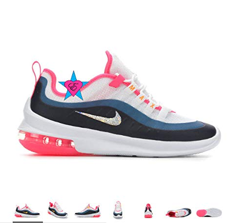 buy popular df4b8 7cf03 Image Unavailable. Image not available for. Color  Custom Bedazzled Glitter  Crystal Bling Women s Nike Air Max ...