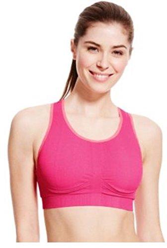 Marks and Spencer - Camisa deportiva - para mujer Pink mix Plain